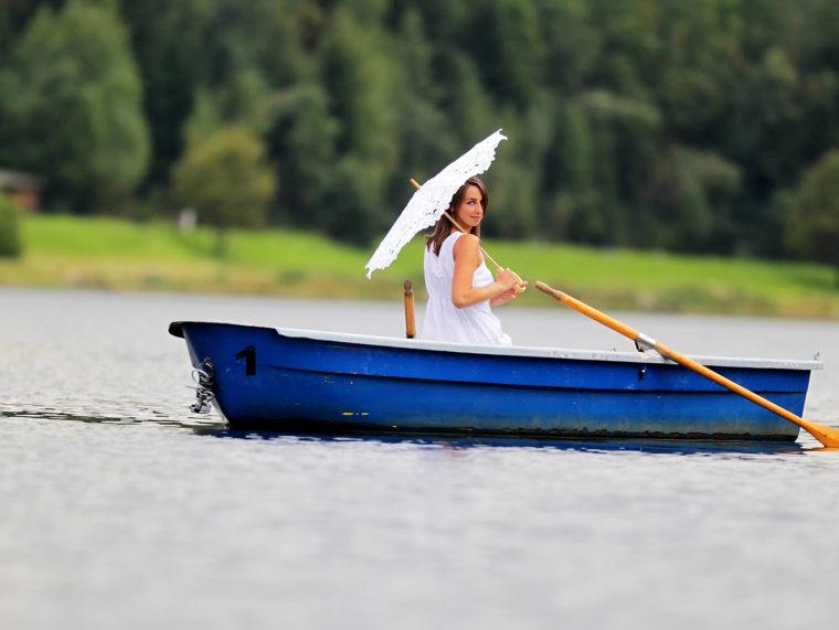 Bootsfahrt auf der Talsperre F-stein