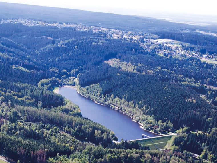 Luftbild Talsperre Falkenstein
